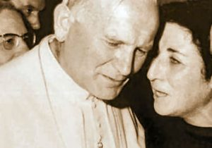 Carmen e Papa Giovanni paolo secondo