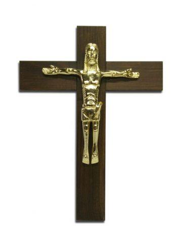 croce muro legno