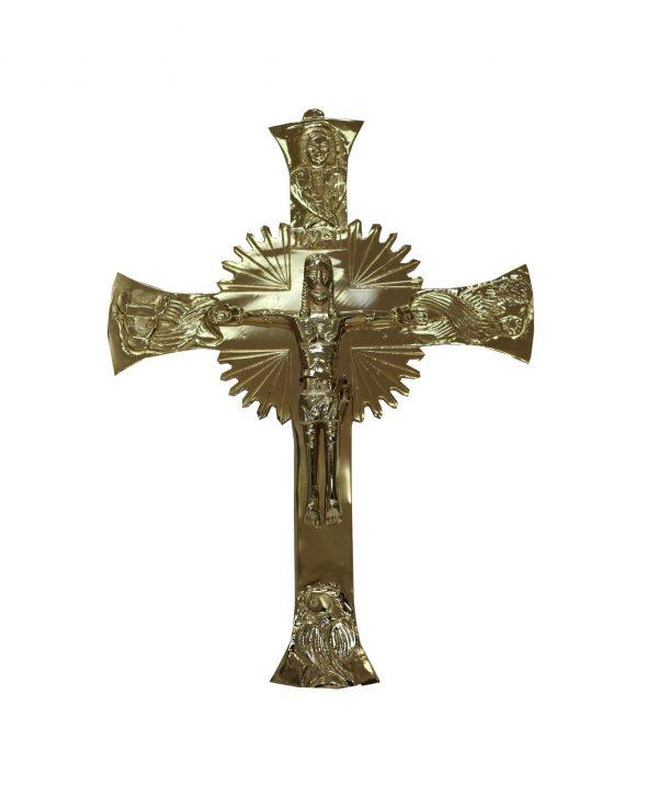 croce muro placcata oro