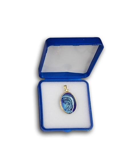 medagliette madonna blu